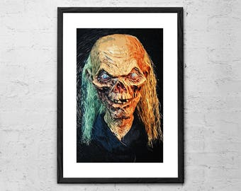 The Crypt Keeper - Tales from the Crypt - Illustration - Crypt Keeper Poster - Horror - Movie Poster - Horror Movie Art Print - Dark Art