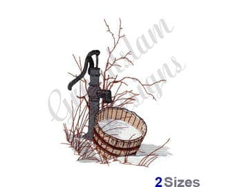 Old Hand Water Pump - Machine Embroidery Design