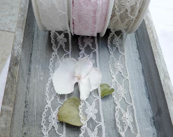 Lace Ribbon in 3 colors, 15 m / RL.