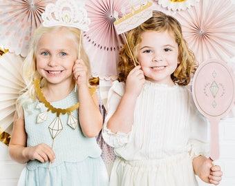 Princess Party Photo Prop Kit/ Princess Party Photo Props/ Princess Party Decor