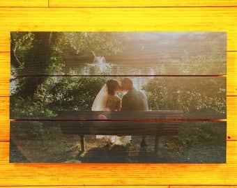 Wedding Pictures - Customized Pallet Picture