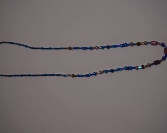 Necklace, Blue and Pink