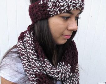 Striped Headband & Infinity Scarf