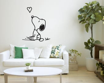 Snoopy Wall Art Decal Sticker Mural, Wall Decoration, Wall Picture, Home Decoration, Illustration #51