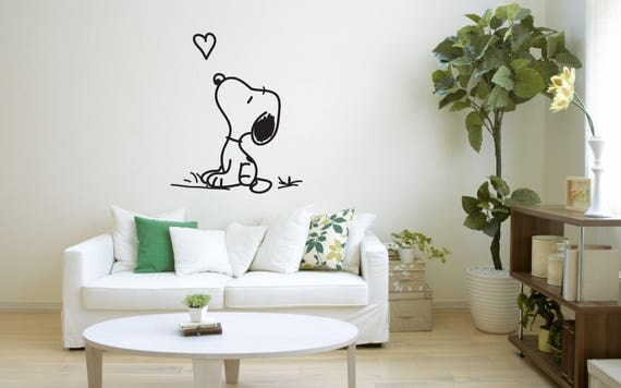Snoopy Vinyl Decals Available in Various Colors by StickyLickyStudio