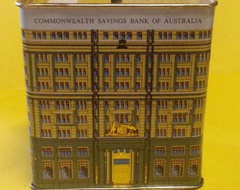 Vintage Commonwealth Savings Bank of Australia Money Box