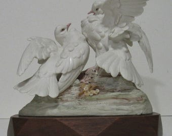 Cybis Porcelain Turtle Doves, Doves Of Peace 1957-70 LTD ED EXC