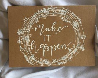"""Make it happen postcard"""