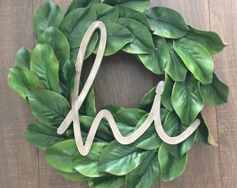 Large Magnolia Wreath (with or without wording)