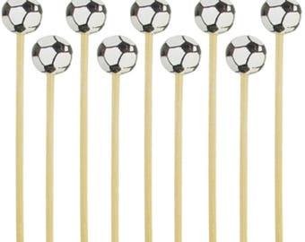 Soccer Drink Picks 100 Piece