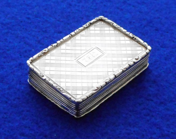 1833 Large Silver Vinaigrette made by Francis Clark - Free shipping worldwide with Coupon Code: FREESHIP