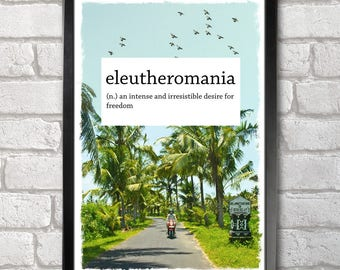 Eleutheromania Poster Print A3+ 13 x 19 in - 33 x 48 cm  Buy 2 get 1 FREE