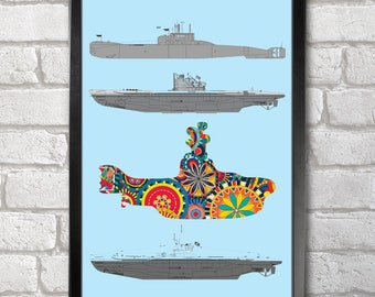 Submarines Poster Print A3+ 13 x 19 in - 33 x 48 cm  Buy 2 get 1 FREE