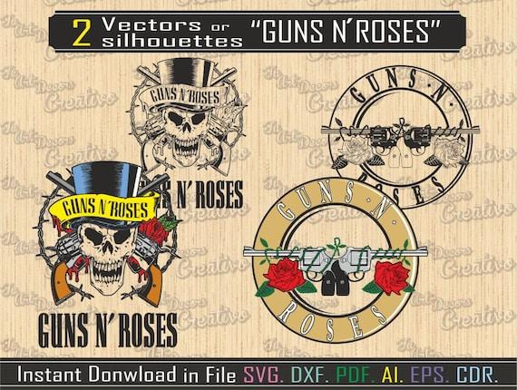 Silhouettes Guns N Roses for cut