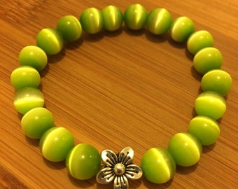 Lime Green Cats Eye