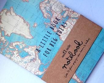 Notebook world map