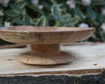 Spalted Oak Pedestal Dish