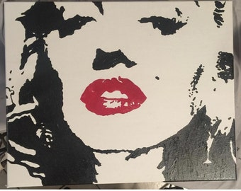 Marilyn Monroe 11 x 14 Acrylic On Canvas