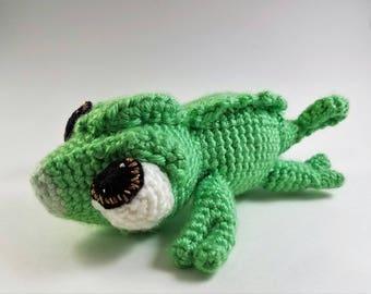 Crochet Chameleon, Pascal inspired, lizard, amigarumi