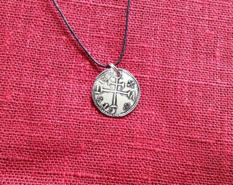 Viking age York coin necklace