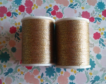 Coats & Clark Gold Polyester Metallic Thread