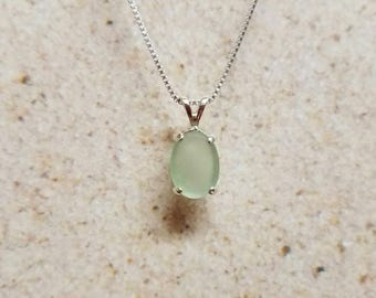 Mint Green Sea Glass Necklace- FREE SHIPPING!