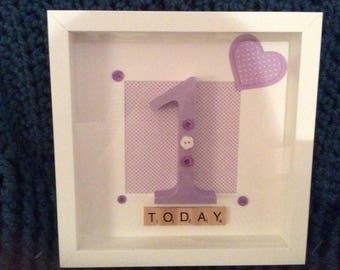 Personalised Box Frames, Milestone Birthday Keepsake, Custom Design Box Frame,