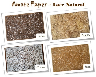 Handcrafted AMATE PAPER – LACE Pattern – 24in x 16in - - - Papel Amate – Modelo: Encaje – 60cm x 40cm