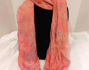 Ice dyed scarf- Autumn Leaves