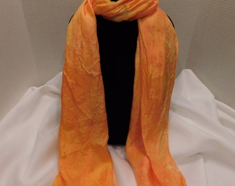Ice dyed scarf- Solar Flare
