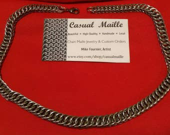 """Necklace 18"""" Chainmaille (Half Persian 4-1)"""