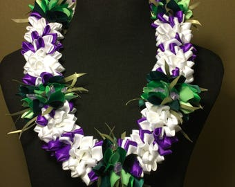 Colored Hawaiian Ribbon Lei