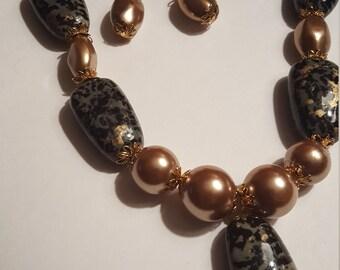 Aunesti two piece jewelry set