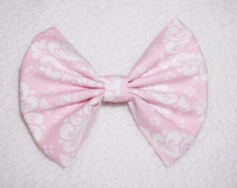 Pink Damask // baby bow, toddler bow, headbands