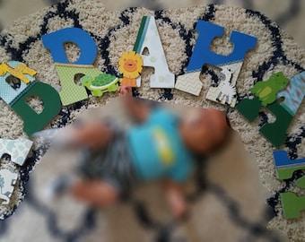 Baby Boy Nursery Letters