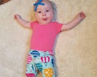 Baby and Toddler leggings- Hot air ballon