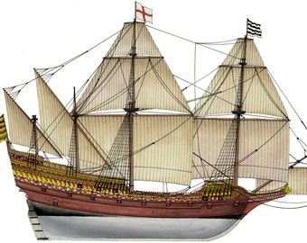 British Elisabethan Galleon