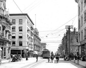 """1907 Colorado Street, Pasadena, California Vintage Photograph 8.5"""" x 11"""""""