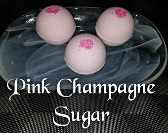Pink Champagne Sugar Bath Bomb