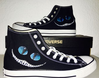 Painted converse chucks - Grinny - bright