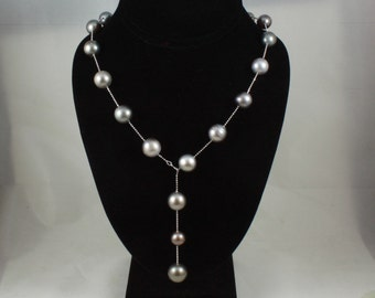 South Sea Natural Black Pearl Necklace
