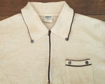 1970's Italian Knitted Polo Shirt Small size 6 Vintage Rare