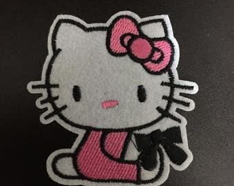 Hello Kitty, Hello Kitty Iron on Patches, 6.8x6.5cm size