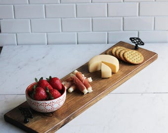 Serving Tray, Cheese Board, Rustic, Farm House, Wood, Homemade, Wooden Tray, Tray with Handles