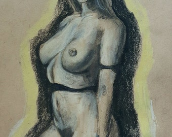 Figure Study on Toned Paper