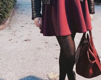 Scuba skirt Burgundy.