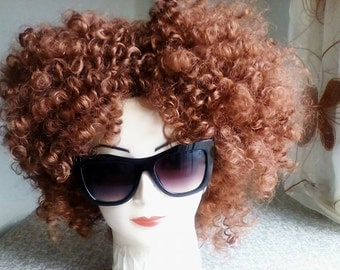 Afro Red Wig