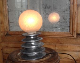 LITTLE MOON - Bedside lamp - Table lamp - Lighting - Art deco -Design - Home furnishing - Upcycled - Creation - Original lamp - Soft light