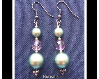 Earrings Swarovski pearls Bohemian crystal