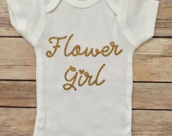 Flower Girl Baby Girl Onesie®, Baby Girl, Flower Girl, Flower Girl Outfit, Wedding Outfit, Flower Girl Onesie®, Baby Girl Onesie®